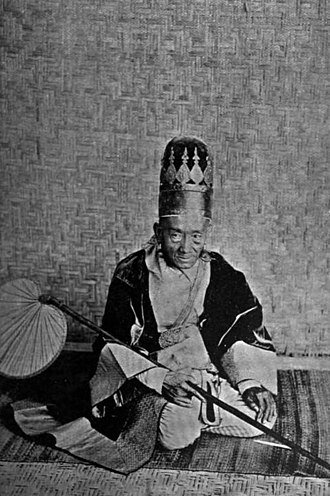 Mandalay - Myowun (Mayor) of Mandalay, c. 1900.