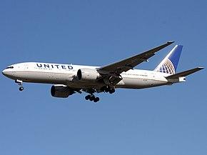 ユナイテッド航空のボーイング777-200ER