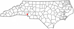Location of McAdenville, North Carolina