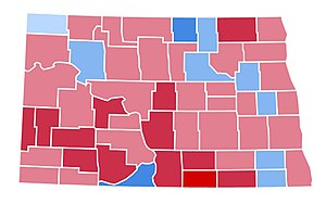 United States presidential election in North Dakota, 1988 - Image: ND1988