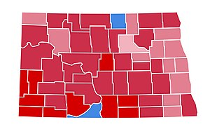 United States presidential election in North Dakota, 2000 - Image: ND2000
