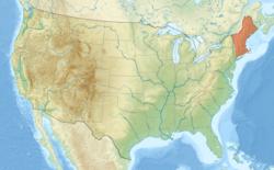 Nova Inglaterra nos EUA, destacado em vermelho