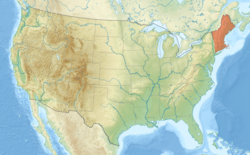 Neuengland innerhalb der USA, rot hervorgehoben