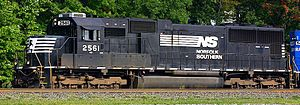 EMD SD70 series - Norfolk Southern Railway 2561 in September 2007