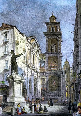 Achille Vianelli - Piazza San Gaetano and San Lorenzo Maggiore in Naples, c. 1845