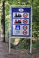 National speed limits sign at French - Luxembourg border crossing.JPG