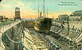 Naval Dry Dock, Portsmouth Navy Yard, circa 1910 (20768785738).jpg