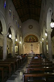 The inside of St Joseph's Church