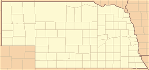 Fort Atkinson (Nebraska) - Image: Nebraska Locator Map