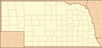 Ashfall Fossil Beds - Image: Nebraska Locator Map