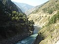 Neelam River with Mountains.jpg