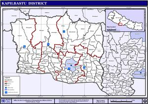 Bhrikuti Municipality - Image: Nepal Kapilbastu Districtmap