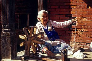 Timeline of historic inventions - Image: Nepali charka in action