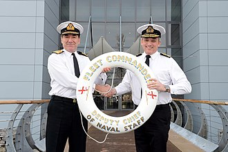 Philip Jones (Royal Navy officer) - Jones being appointed to Fleet Commander in 2012.