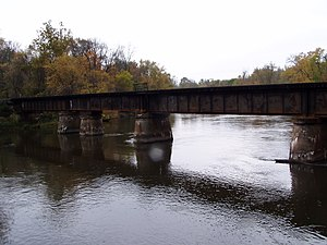 King Bridge Company - 1907 Kalamazoo River bridge near Fennville and Saugatuck, Michigan