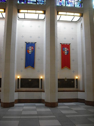 National War Memorial (New Zealand) - Flags in the Hall of Memories