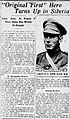 Newspaper clipping from the Winnipeg Evening Tribune talking about Royce Coleman Dyer.jpg