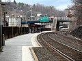 Newtonville station from near Harvard Street, March 2013.JPG