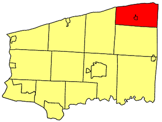 Somerset, New York - Location within Niagara County.