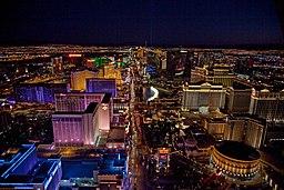 Night aerial view, Las Vegas, Nevada, 04649u