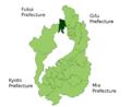 Nishiazai in Shiga Prefecture.png