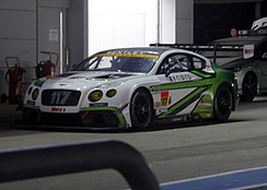 The Bentley Continental GT3 (left) and Toyota Mark X MC (right) made their debuts in the GT300 class this season.