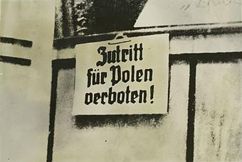 "German warning in occupied Poland 1939 - sign ""No entrance for Poles!"" No entrance for poles1.jpeg"