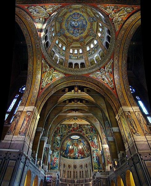 Basilique Sainte-Thérèse de Lisieux, Calvados, Normandie, France.