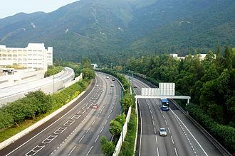 North Lantau Highway - North Lantau Highway near Tung Chung