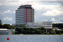 North Shore Hospital across Lake Pupuke.jpg