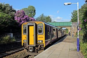 Kirkby branch line - A Northern Rail Class 150 at Orrell railway station