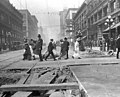 Northern view of 2nd Ave from Madison St showing regrade work, Seattle, Washington, August 31, 1914 (LEE 163).jpeg