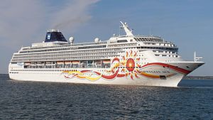 Norwegian Cruise Line - Image: Norwegian Sun departing Port of Tallinn 25 May 2012 (cropped)