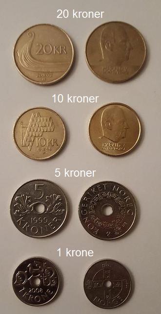 Crown (currency) - Norwegian krone coins