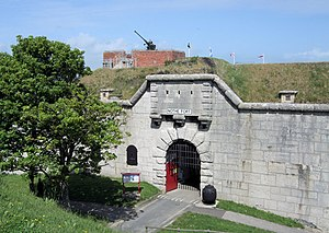 Nothe Fort - The fort's entrance.