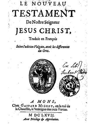 Louis-Isaac Lemaistre de Sacy - Image: Nouveau testament 1667