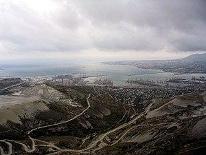 Tsemes Bay - A panoramic view of the Tsemess Bay from the Markotkh Range.