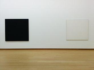 Bob Law - Part of Number 88, Black/Black/Blue/Violet, 1974. Stedelijk Museum Amsterdam.