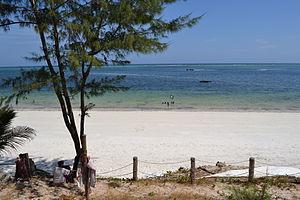 Nyali Beach from the Reef Hotel during high tide in Mombasa, Kenya 12.jpg