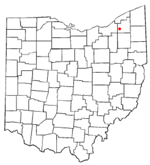South Russell, Ohio - Image: OH Map doton South Russell