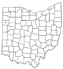 Location of Van Wert, Ohio