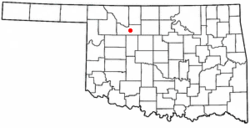 Location of Fairview, Oklahoma