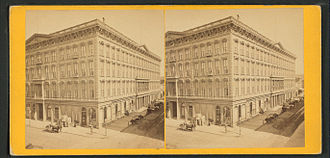 Occidental Hotel - Occidental House, from the Robert N. Dennis collection of stereoscopic views
