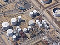 Oil storage tanks at Fawley Refinery (low-altitude aerial) - geograph.org.uk - 413370.jpg