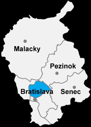 Bratislava 3 - Image: Okres bratislava III