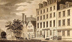 Broad Street (Manhattan) - Old Dutch house on Broad Street, 1831