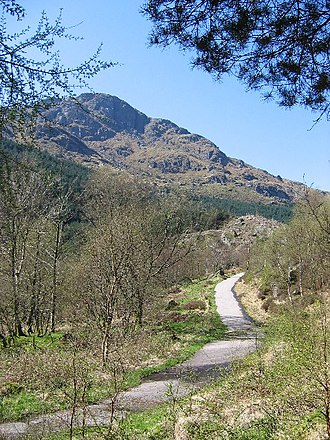 Cowal - Military road leading to Rest and be Thankful