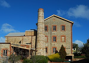 Birdwood, South Australia - The old mill building at the National Motor Museum on Birdwood's main street