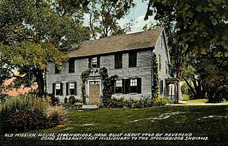 Stockbridge, Massachusetts - Mission House, built about 1740. Postcard c. 1908.