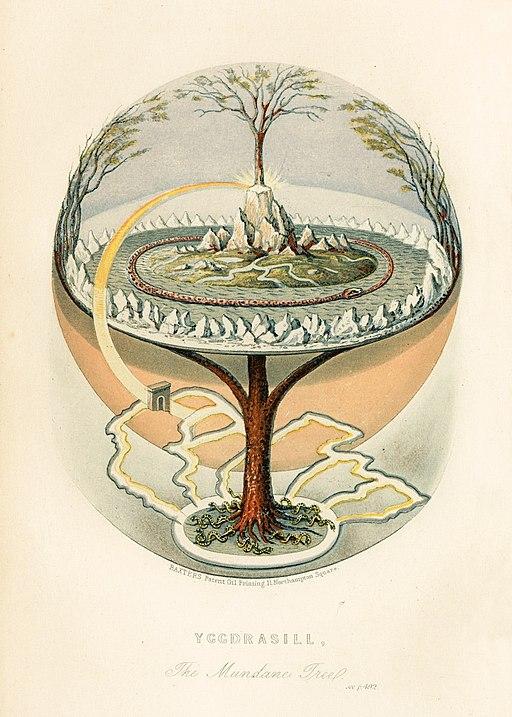 Oluf Olufsen Bagge - Yggdrasil, The Mundane Tree 1847 - full page